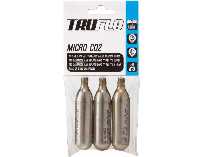 Truflo Micro CO2 pump refill pack (3 x 16 g cartridges), 5 pack