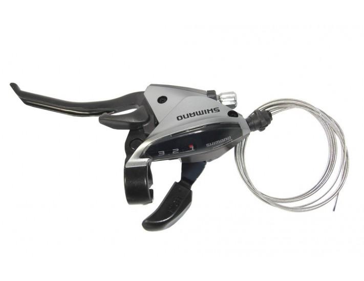 Maneta FC Shimano ST EF 510 4 dedos 3 v izquierdoV Brake1800mmplata