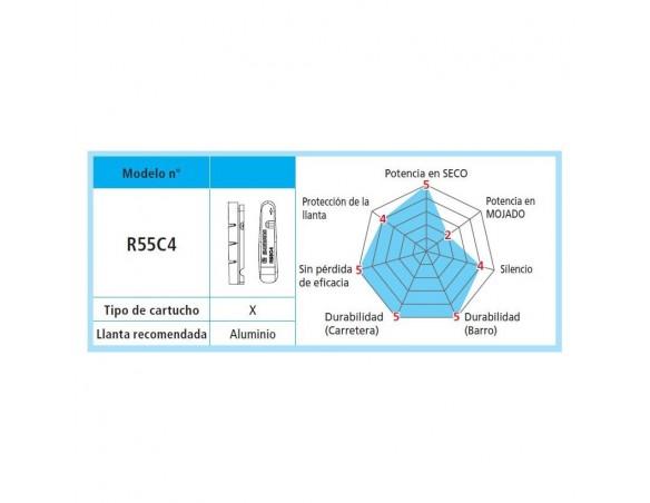 ZAPATAS 1 PAR COMPLETAS BR 9000 R55C4