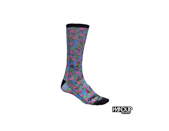 Rumblebikes-Handup Foot Down Socks - The Flamingo- Party Time