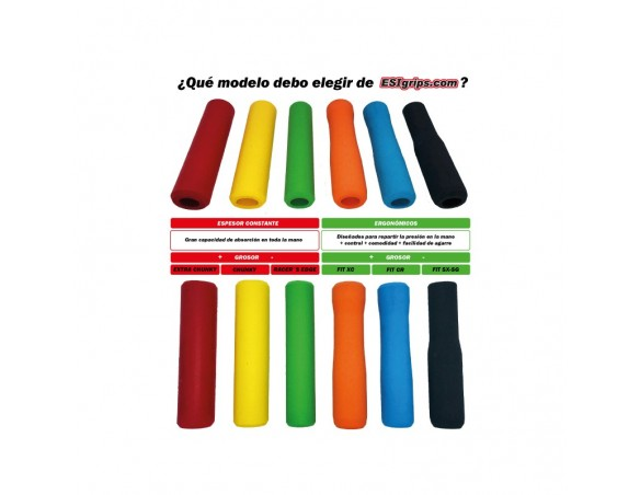Rumblebikes-ESIgrips Chunky Custom Verde-Blanco-Verde-Puños