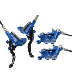 Par de frenos Hope Tech 3 V4 Azul